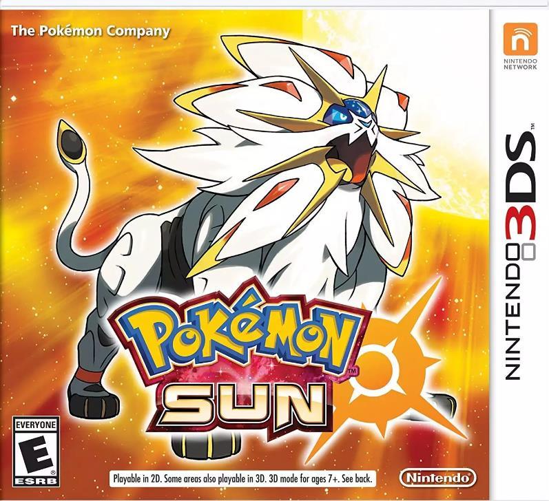 宠物小精灵太阳任天堂3DS