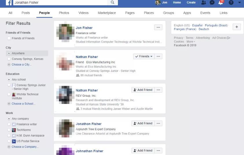最好的人肉搜索网站-facebook