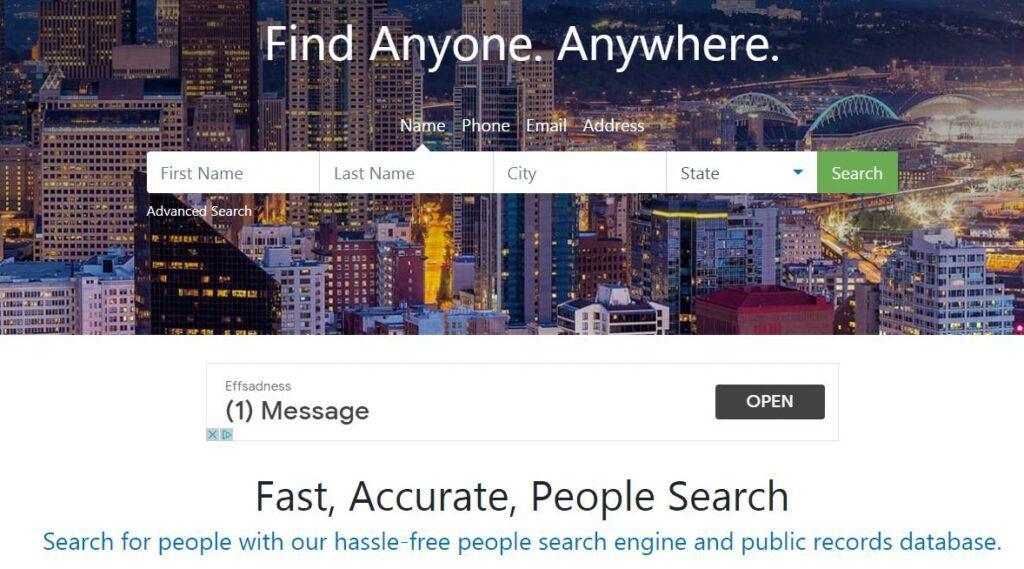 最好的人肉搜索网站-PeopleFinders
