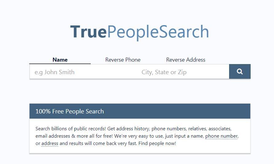 最好的人肉搜索网站-TruePeopleSearch