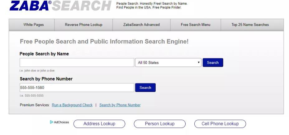 最好的人肉搜索网站-Zabasearch