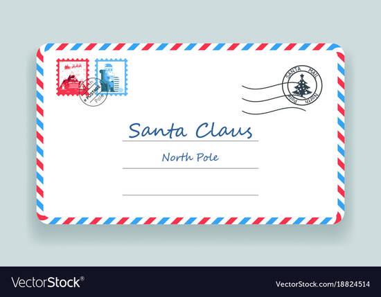 圣诞节邮寄地址邮政信图