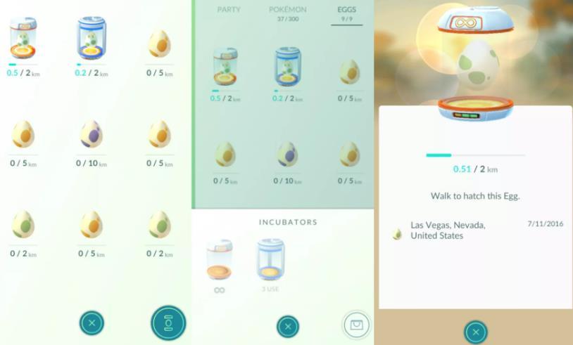 需要步行才能在Pokemon Go中孵卵