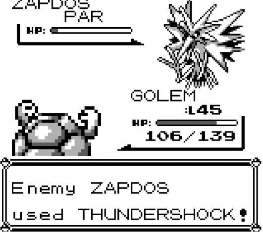 捕获口袋妖怪红的Zapdos