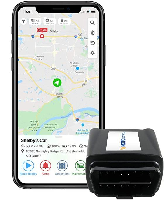 最适合汽车:MOTOsafety OBD GPS 追踪器
