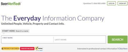 Melhor site de pesquisa de e-mail e diretório de endereços: Beenverified