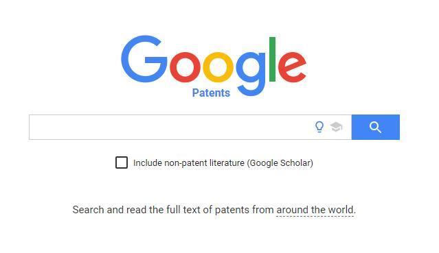 google patents 搜索页面截图