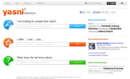 Melhor site de pesquisa de e-mail e diretório de endereços: yasni