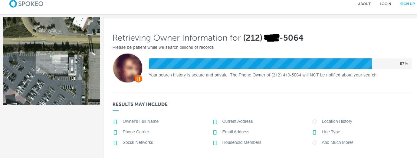 使用Spokeo根据美国电话号码查询地址第2步